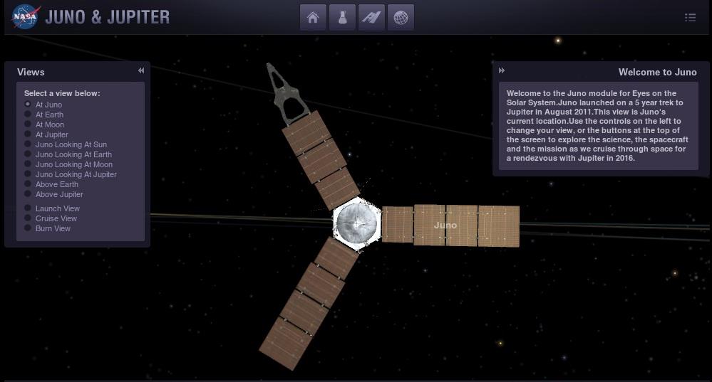 Juno на пути к Юпитеру