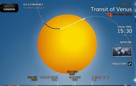Встреча Венеры с Солнцем: Транзит Венеры 6 июня 2012