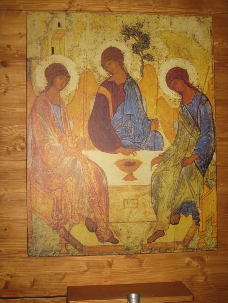 Каждый год на Троицу икона Андрея Рублева в церкови Святителя Николая в Толмачах